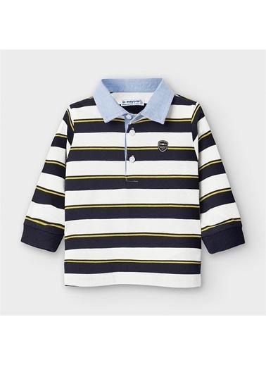 Mayoral Mayoral Erkek Bebek Polo yaka çizgili SweaT-shirt Lacivert
